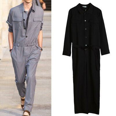 $64.52 • Buy Mens Slim Fit Overall Pants Summer Korean Fashion Leisure Long Jumpsuit Trousers