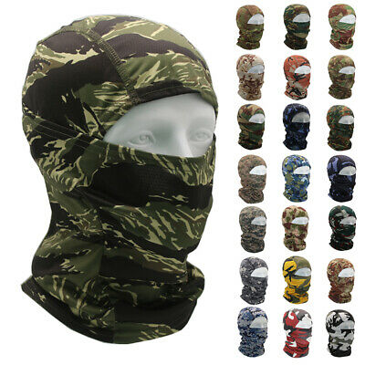 £6.99 • Buy Tactical Hunting Camouflage Balaclava Army Face Mask Shield Neck Gaiter Cover