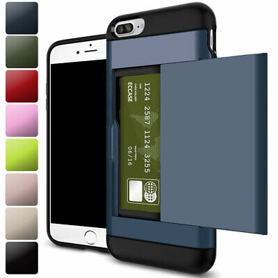 AU10.92 • Buy Shockproof Wallet Credit Card Holder Stand Phone Case For IPhone 7 8 6 SE 12 Pro