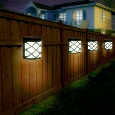 £10.59 • Buy 4pack Led Solar Fence & Wall Lights Garden Security Outdoor Post Step Uk Stock
