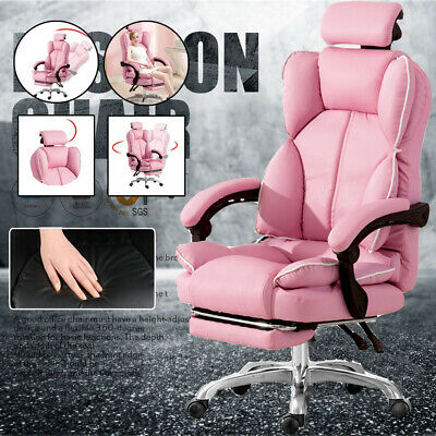 AU145.88 • Buy Pink Office Executive Racing Gaming Chairs Swivel PU Leather Computer Desk Chair