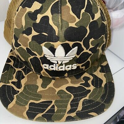 Green Camouflage Adidas Snap Back Cap With Mesh On The Back Half • 15.99£