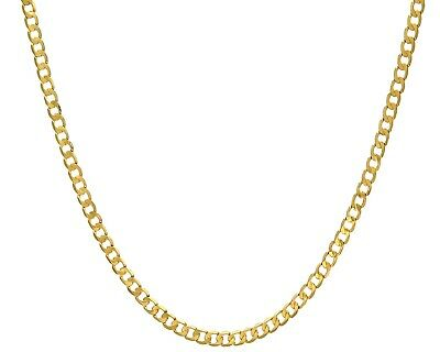 £189 • Buy 9ct Gold CURB Chain - 4MM - 16 18 20 22 24 Inch