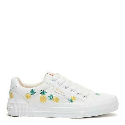 £49 • Buy Rocket Dog Cheery Women's White Pineapple Hand-Painted Sneaker Low-Top Trainer