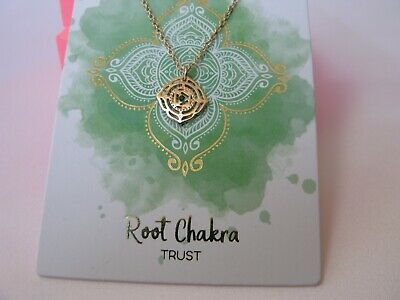 £6.50 • Buy Miss Selfridge Rose Gold Tone Root Chakra Lovely Necklace TRUST Diamante NEW