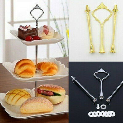 £5.70 • Buy 3 Tier Cake Cupcake Rod Plate Stand Handle Hardware Fitting Holder Tool Healthy