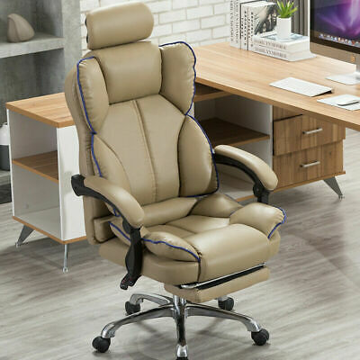 AU179.88 • Buy Office Racing Gaming Chair Footrest Leather Swivel Computer Desk Chairs Recliner