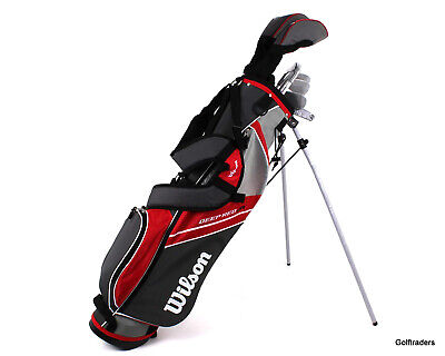 AU299 • Buy New Wilson Deep Red Junior Red Golf Package Ages 11-14 H4856