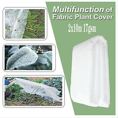 £9.48 • Buy 2Mx10M HEAVY DUTY GARDEN FLEECE PLANT PROTECTION WHITE HORTICULTURAL COVER FROST