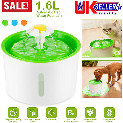 £20.10 • Buy 1.6L Electric Cat Auto Water Fountain Dispenser Ultra Silent Pet Drinking Bowl