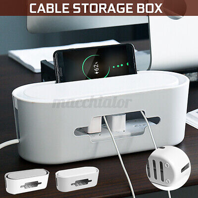 Wire Cable Management Storage Box Power Strip Cord Outlet Tidy Safety Organizer • 7.99£