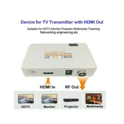 £17.75 • Buy HDMI To RF Coaxial Converter Adapter Boxes Analog Transmitter W/ Remote Con GZ