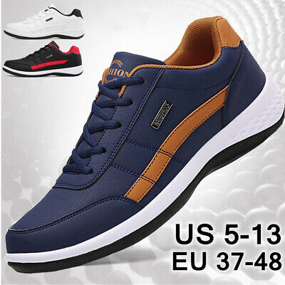 $18.99 • Buy New Men's Fashion Leather Casual Sneakers Sports Running Shoes Plus Size 40-47