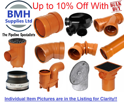£11.95 • Buy Underground Drainage 110mm Pipe & Fittings, Coupler, Bends, Junctions, Traps Etc