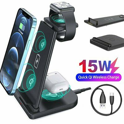 AU31.99 • Buy 3 In 1 Wireless Charger Dock Charging Station For Airpods Apple Watch IPhone 12