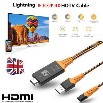 £9.89 • Buy 8 PIN Connect To HDMI TV AV Cable Adapter 2M For IPhone 6 7 8 11 12 IPad Air