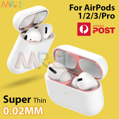 AU4.88 • Buy Iron Shavings Metal Film Sticker Dust Guard Protective Cover For AirPods 1/2/Pro