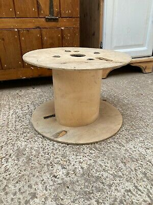 Small Natural Wooden Cable Drum Ideal Coffee Side Table Home Garden Project TLC • 19.99£