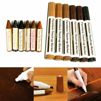 £7.99 • Buy Set Of 12 Furniture Repair Pens Markers Touch Up Wood Laminate Scratch Remove