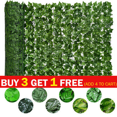 £6.99 • Buy Artificial Faux Ivy Leaf Hedge Panels Roll Privacy Screening Garden Fence Decor