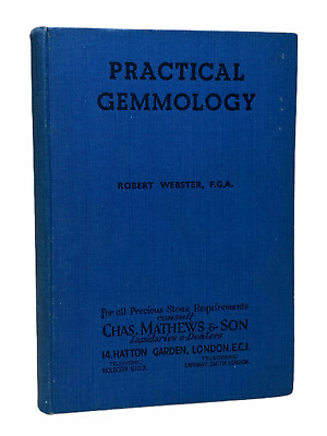 £14.54 • Buy Practical Gemmology By Robert Webster, F.G.A. Hardcover Edition