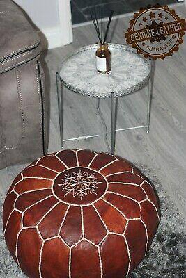 Moroccan Leatherhand Made Pouffe • 59.99£