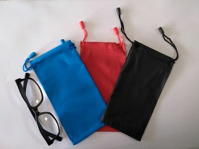 AU3.50 • Buy Glasses Pouch Bag Reading Glasses Case Soft Leather Look