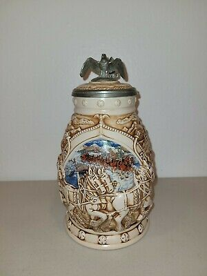 $ CDN25.07 • Buy Anheuser Busch  World Famous Clydesdale Hitch  Lidded Beer Stein By Avon 2002
