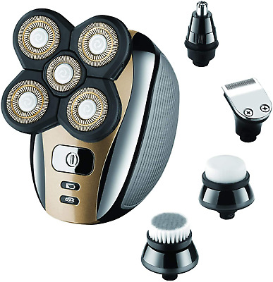 $47.89 • Buy Upgrade 5-in-1 Electric Shaver And Freedom Grooming Kit For Bald Head Men NEW