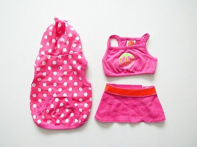 £9.33 • Buy Dog Outifts - Pink Hoodie, Skirt & Tank Top, X-Small