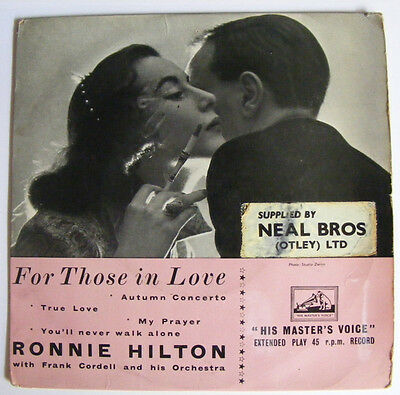 £3.49 • Buy RONNIE HILTON For Those In Love   HMV UK 1950s P/S EP