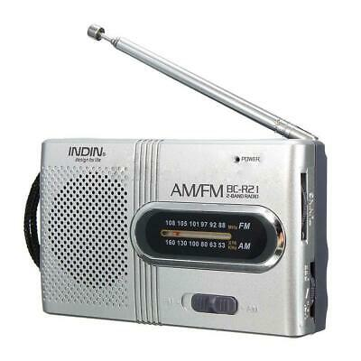 £5.71 • Buy AM FM Battery Operated Mini Portable Pocket Radio Receiver Best Reception MD