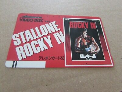 £9.99 • Buy Rocky 4 Stallone Rare Video Disc Mint Unused Phonecard From Japan (17)