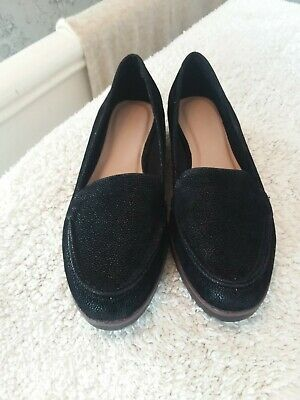 New Ladies Evans Suede Wide Fit  Wedge Shoes Size 4e • 4.99£