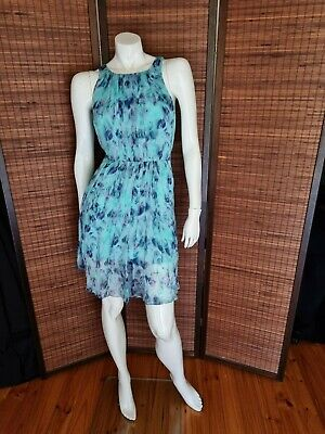 AU29 • Buy Forever New Blue Silk Dress Size 16 Wedding Party Formal Spring Sleeveless