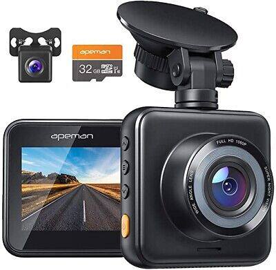 APEMAN Dual Lens Dash Cam For Cars Front And Rear With Night Vision And SD Card  • 34.99£