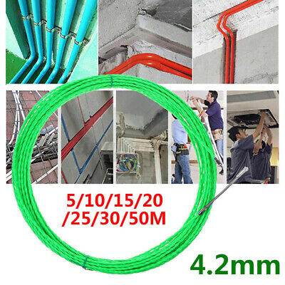 15m/20m/25m/30m Fish Tape Wire Puller Electrical Cable Pulling Rod Threade • 17.21£