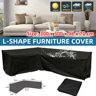 AU39.99 • Buy L Shape Waterproof Sofa Couch Seat Furniture Cover Outdoor Garden Table Rain UV