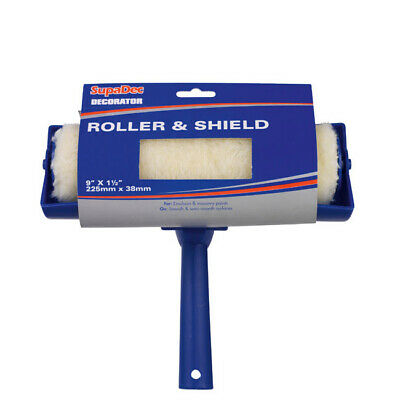 £7.99 • Buy Paint Roller With 9  Shield Guard For Wall Ceiling Emulsion Painting