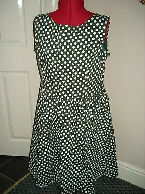 AU19.66 • Buy Ladies LINDY BOP Green Mix Polka Dot Fit And Flare Dress Size 18UK