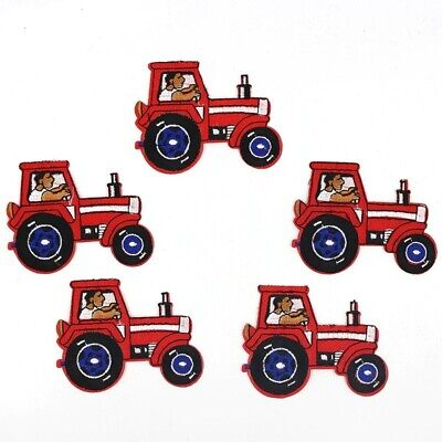 AU24.66 • Buy 10pcs Cartoon Tractor Patches Iron On Truck Sewing Appliques Jeans Backpack Coat