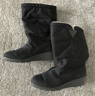 £7.99 • Buy Rohde Sympatex Lined Black Wedge Boots Size 4