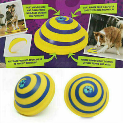 £7.07 • Buy Indoor Soft Safe Play Toy For Dog Pet Toy Sounding Rubber Disc Woof Glider MR