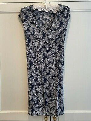 Brora Dress Size 10, Blue/white, Cotton • 9.90£