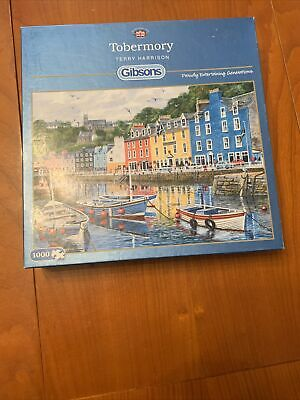 £10.99 • Buy Gibson Tobermory By Terry Harrison 1000 Pc Puzzle