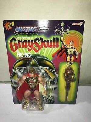 $34.99 • Buy Masters Of The Universe Vintage He-Ro The Powers Of Grayskull MOTU Super7 MOC
