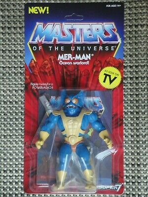 $40 • Buy Masters Of The Universe Mer-Man Action Figure NIB Super 7 Vintage Series Merman