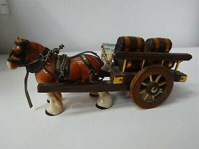 Vintage Melba Ware Shire Horse And Cart With Barrels  • 3.75£