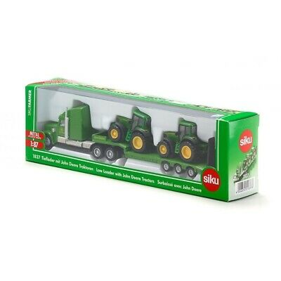 £23.99 • Buy Low Loader Truck With Two John Deere Tractors - 1:87 Scale By Siku - 1837 - New