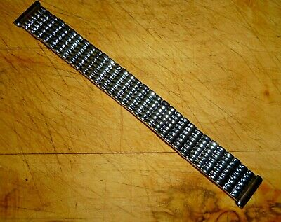 £4.99 • Buy Vintage Men's Watch Strap Expandable Stainless Steel Easy Fit Clip On18mm Ends